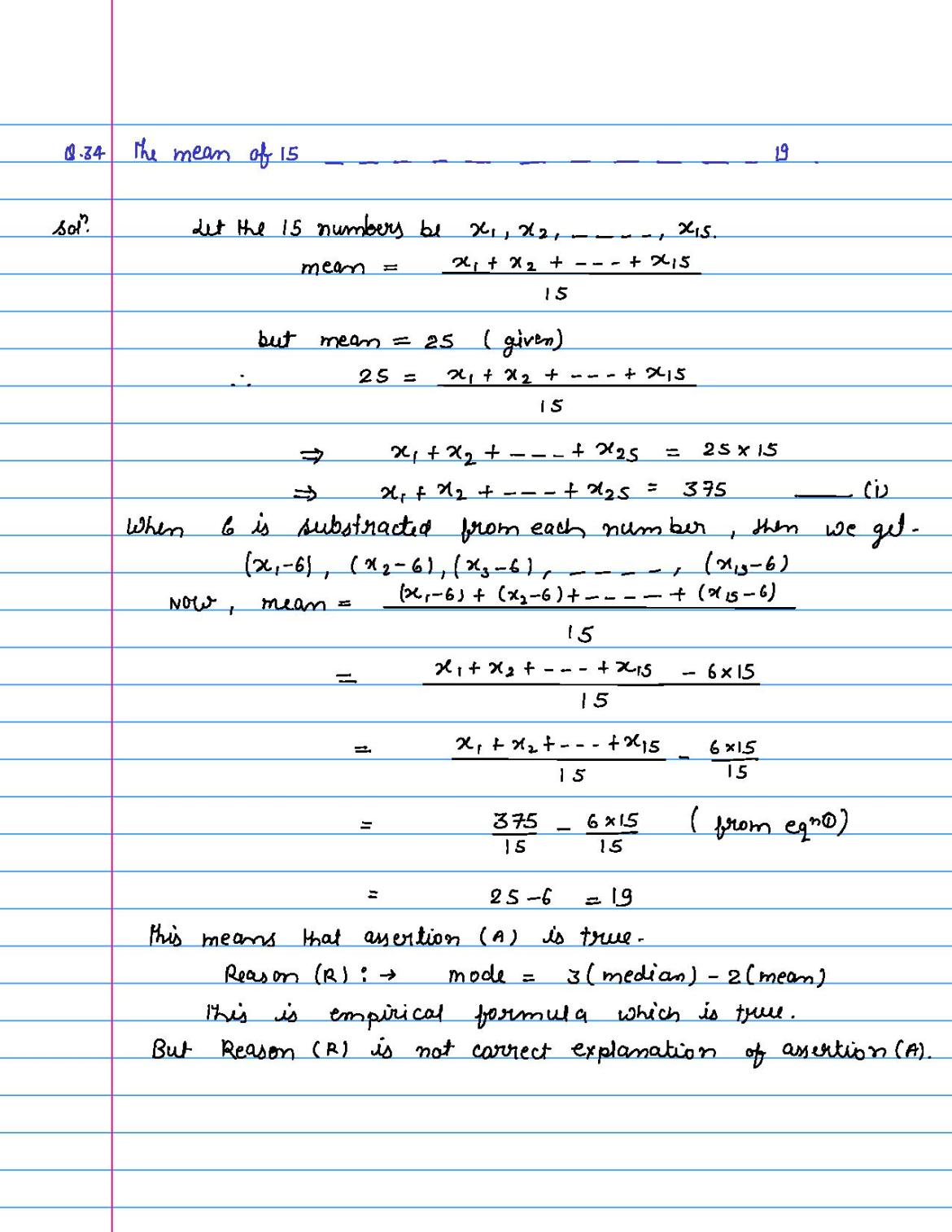solution of MCQ questions of statistics of class 9th-page-034