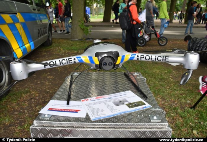 Služební dron policie