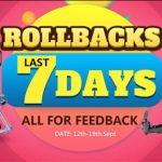 Rollbacks deals! - Banggood plný slev