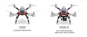 XK Aircam X500 varianty