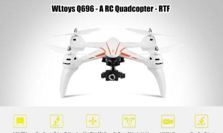 WLtoys Q696-A – levný dron s gimbalem a 5,8 GHz FPV