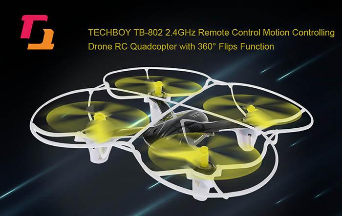 Techboy TB-802 - dron, který lze ovládat pohybem ruky