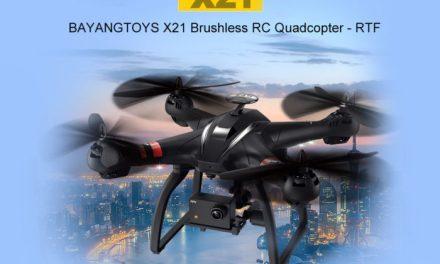 Bayangtoys X21 – novinka s duálním GPS systémem a FullHD kamerou