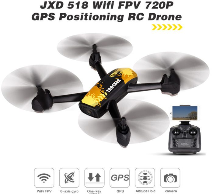 JXD 518 – levný dron s GPS a HD kamerou