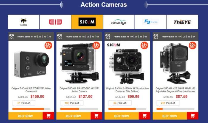 výprodej akčních kamer