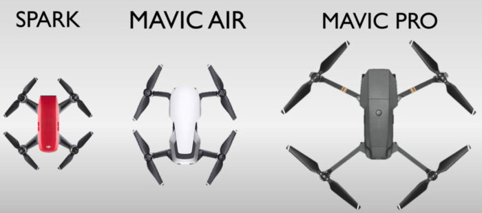 DJI Mavic Air vs. Mavic Pro vs. DJI Spark