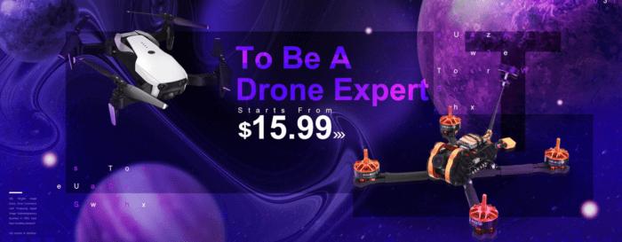 Závodní koptéry a komponenty pro stavbu dronu ve výprodeji