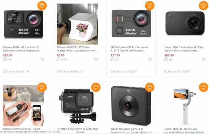 výprodej - akční kamery