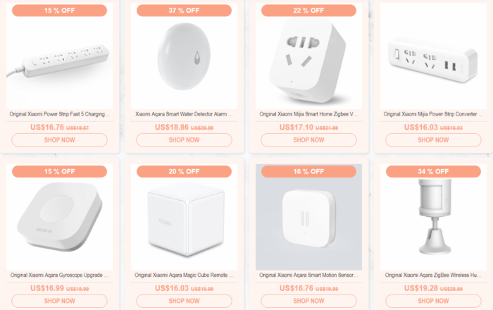 sleva na Xiaomi Smart home produkty