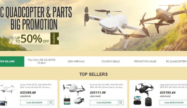 Hromada slevových kupónů na drony jen pro vás