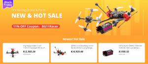 Extrémní výprodej závodních dronů a příslušenství
