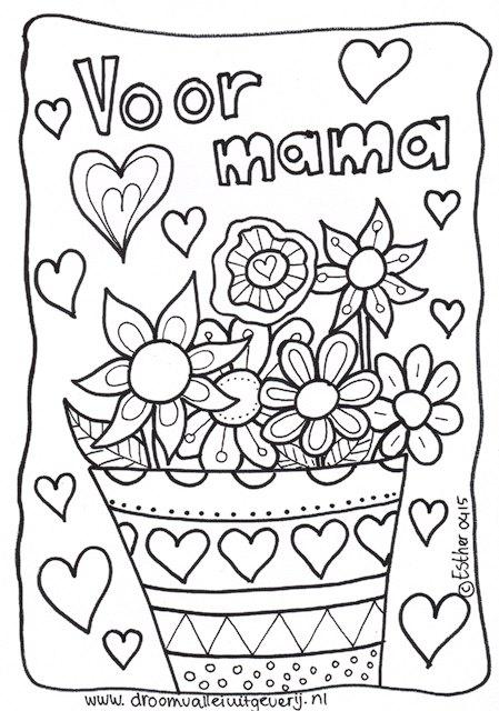 kleurplaat moederdag