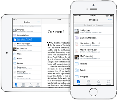 The iOS App of Dropbox