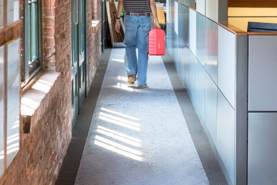 CleanandSafePro provides excellent floor protection for commercial job sites.