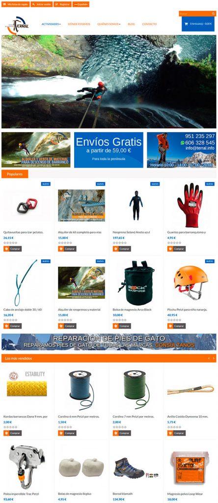 Tienda online de material deportivo