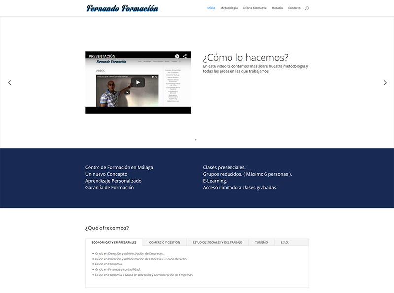 web para academia