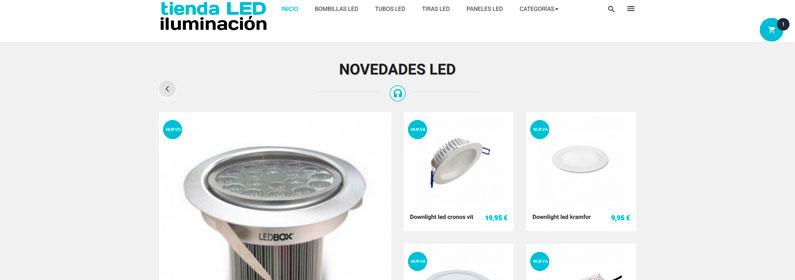 Tienda dropshipping de iluminación LED en alquiler