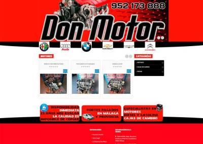Catálogo en PrestaShop para desguace de motores