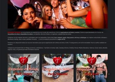 Diseño página web de despedidas con WordPress