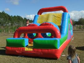 Wacky Mini Obstacle - Bouncer with Inflatable Slide