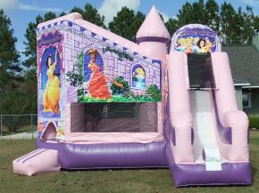 Inflatable Disney Princess Slide and Bouncers