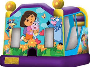 Dora the Explorer Bounce Castle with Inflatable Slide