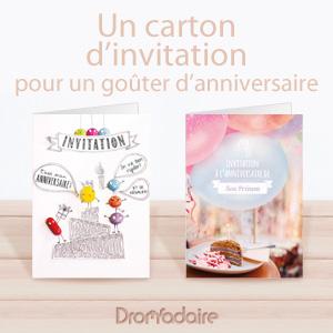 invitations anniversaire pour enfant