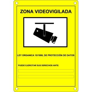 Cartel CCTV videovigilancia