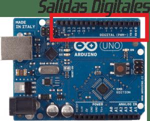 outputs digital one arduino