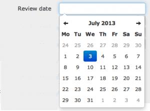 Bootstrap date picker diseño freelancer