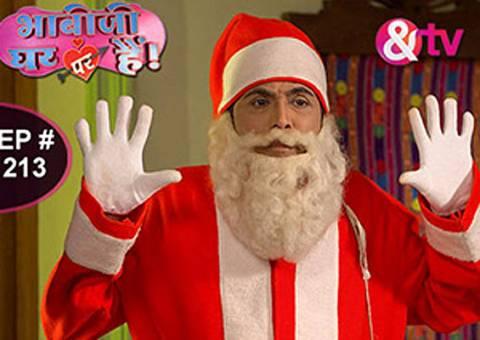 bhabhiji-ghar-par-hai-christmas-celebration   Bhabhiji Ghar Par Hai Christmas   Vibhuti in Satnta dress   Images   Pics   Photos