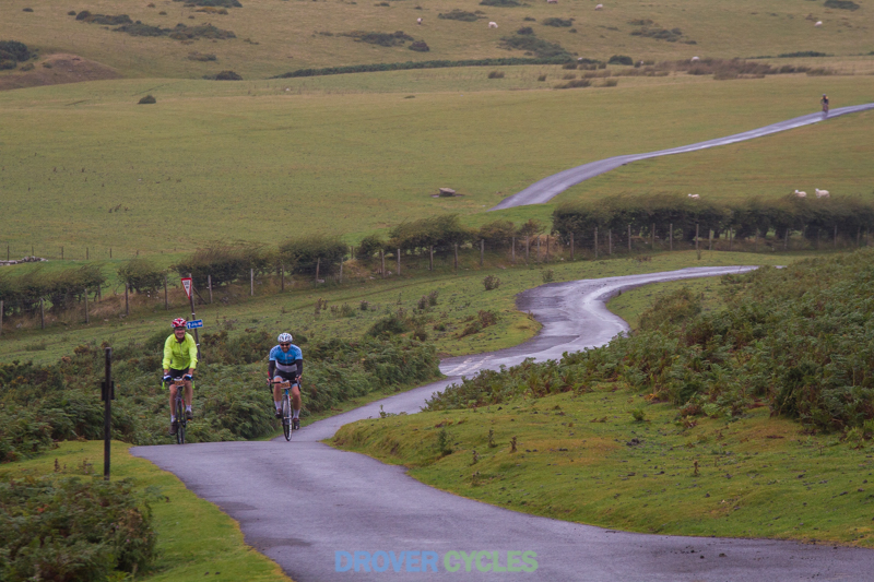 Riders approaching Gospel Pass on the 2016 Powys Devil Sportive