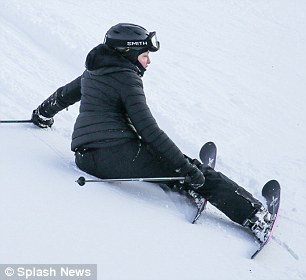 Madonna takes a tumble while skiing in Switzerland