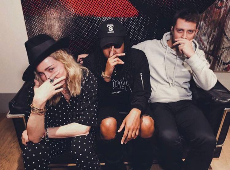 Madonna with Starrah and Billboard