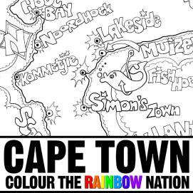 Cape Peninsula - Cape Town: Colour the Rainbow Nation Coloring Book by Pearl R. Lewis