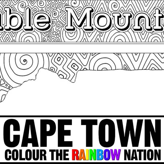 Table Mountain - Cape Town: Colour the Rainbow Nation Coloring Book by Pearl R. Lewis