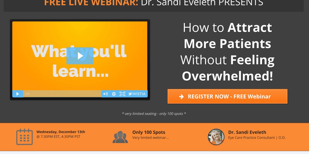 Webinar – Attract More Patients Without Feeling Overwhelmed!