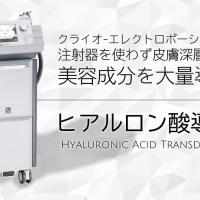 ヒアルロン酸導入【クライオエレクトロポレーション・ケアシス】