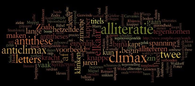 Stijlfiguren 5: Alliteratie antithese anticlimax climax