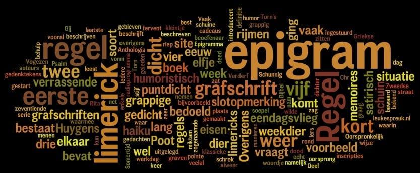 Gedichten: epigram, grafschrift en limerick