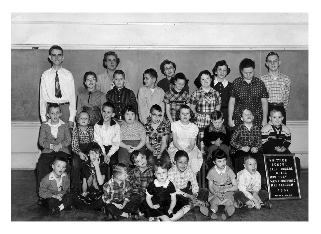 Dale Rogers Training Center's first class at Whittier School in Oklahoma City, 1957