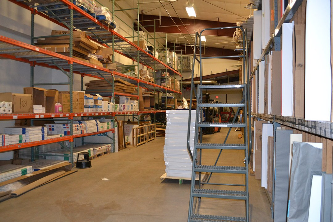 Warehouse space at DRTC Picture Frames.