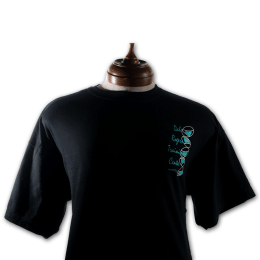Black t-shirt with DRTC's logo.