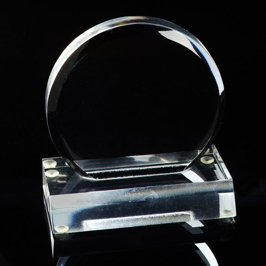 Blank circle acrylic award.