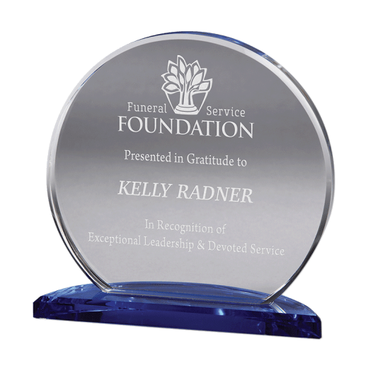 Engraved Corona crystal award.