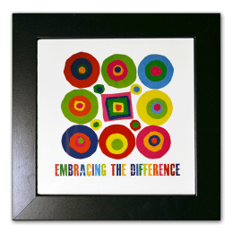 "Framed Circles and Square image. ""Embracing the Difference®"""