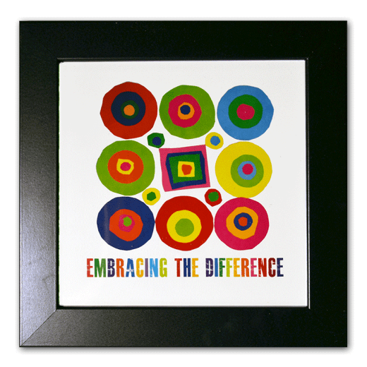 """Framed Circles and Square image. """"Embracing the Difference®"""""""