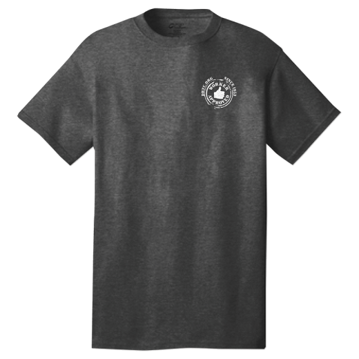Gray t-shirt with DRTC's Worker Approved logo on the left pocket area.