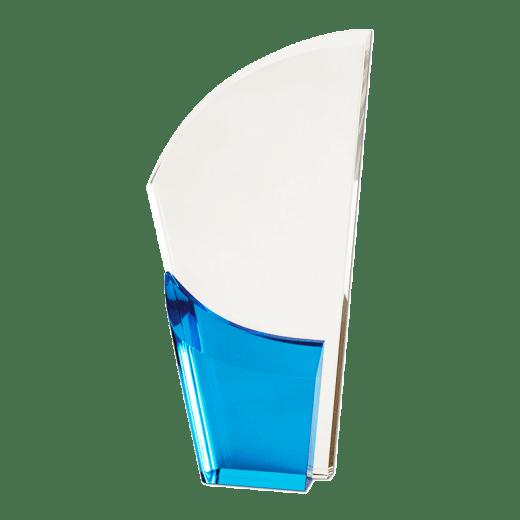 Blank blue Lunar Acrylic award