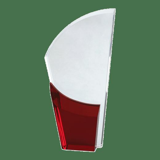 Blank red Lunar Acrylic award